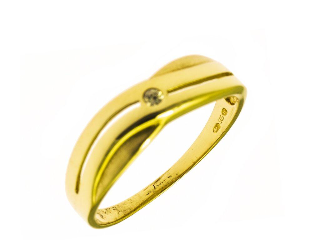 Prsten ze žlutého zlata G795