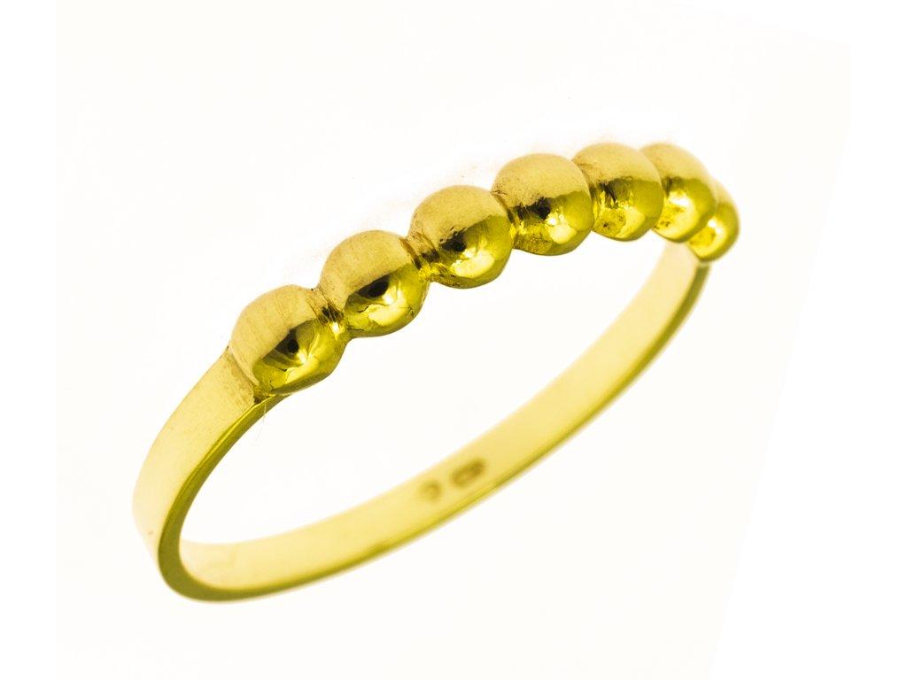 Prsten ze žlutého zlata G846