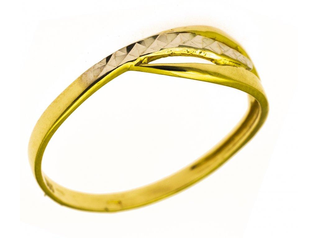Prsten ze žlutého zlata G859