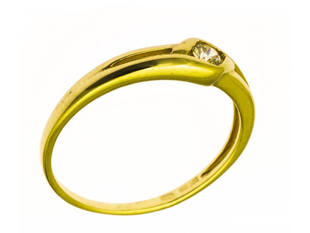 Prsten ze žlutého zlata G797