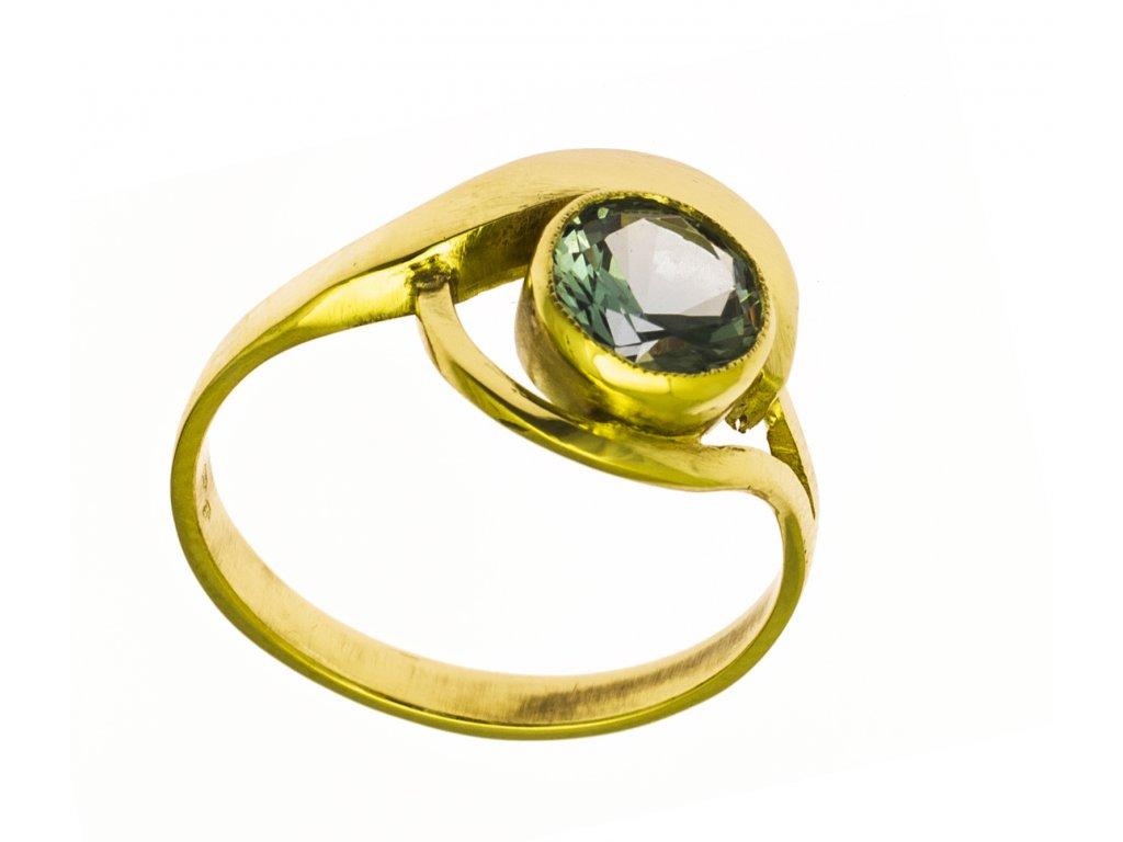 Prsten ze žlutého zlata G868