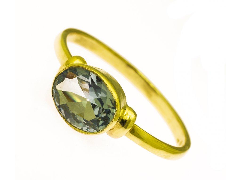 Prsten ze žlutého zlata G866
