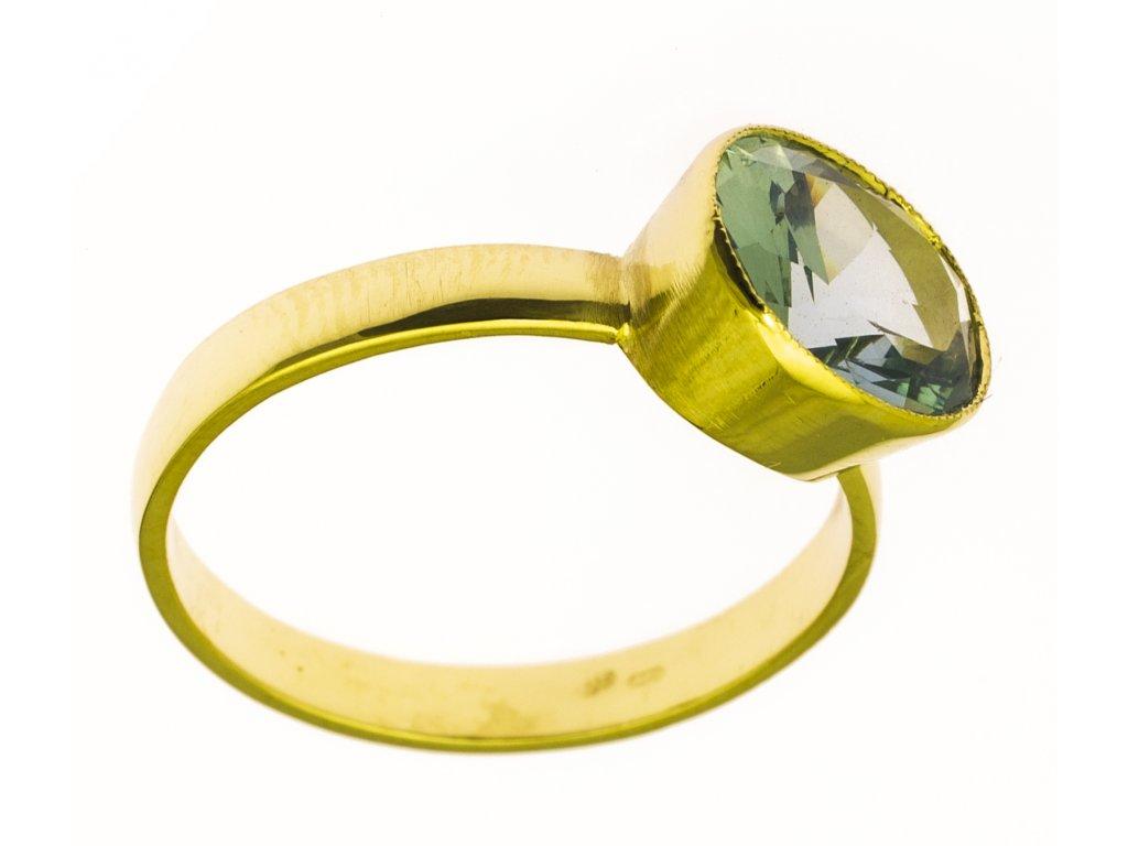 Prsten ze žlutého zlata G867