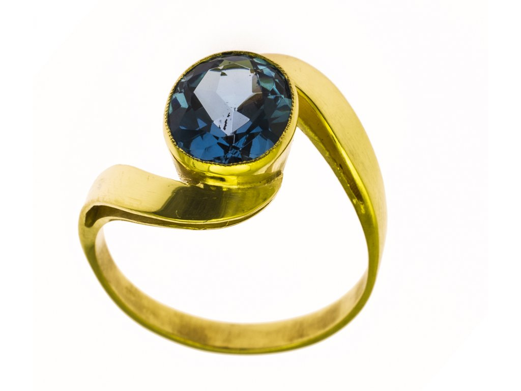 Prsten ze žlutého zlata G844