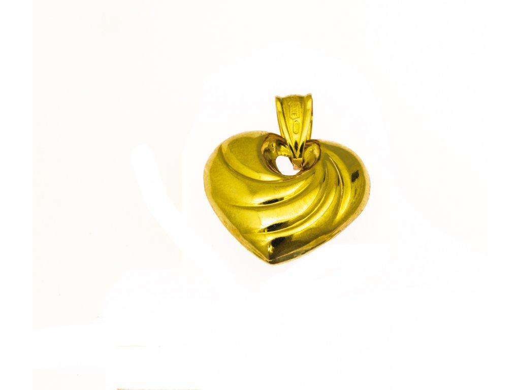 Přívěšek ze žlutého zlata H952
