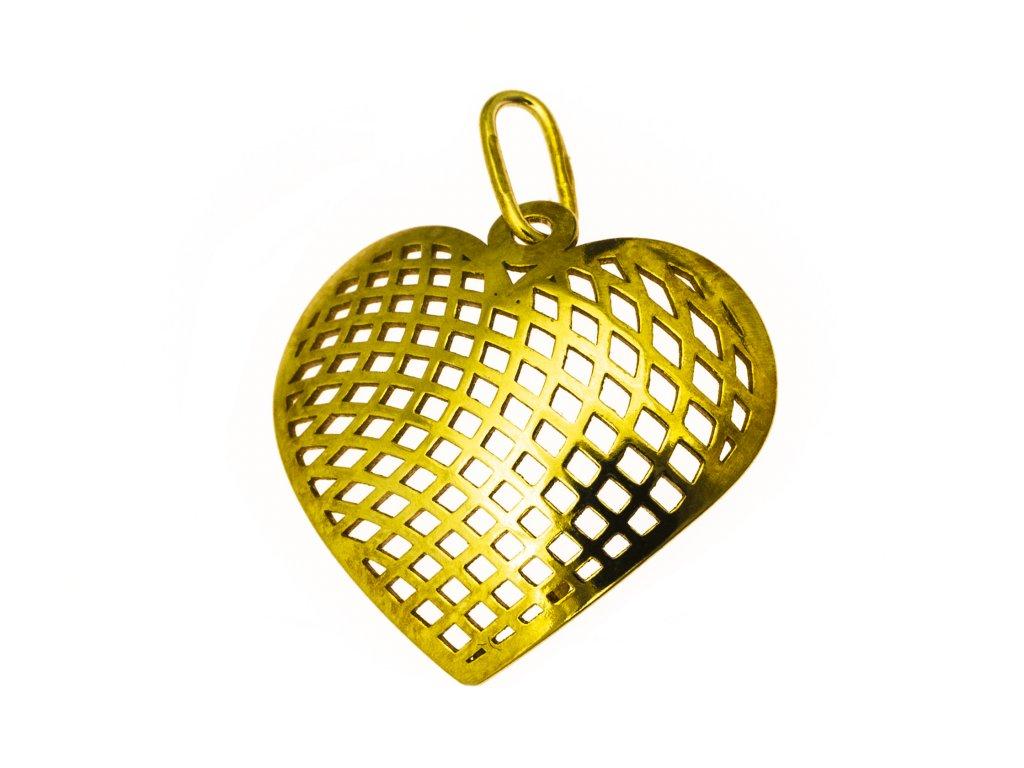 Přívěšek ze žlutého zlata H926