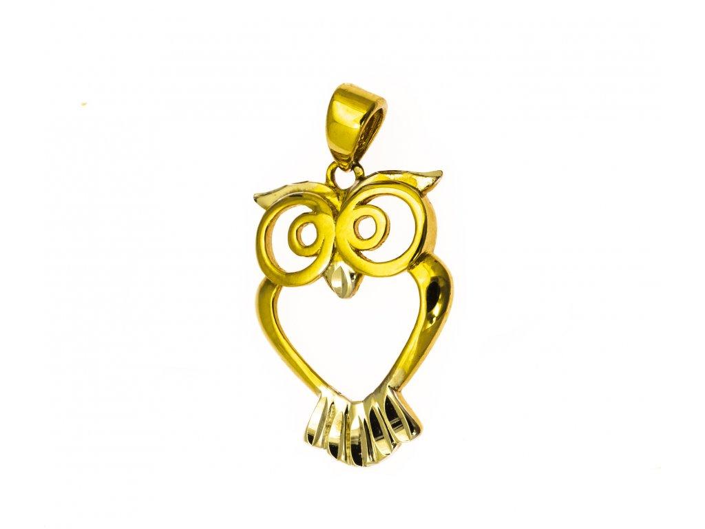 Přívěšek ze žlutého zlata H900