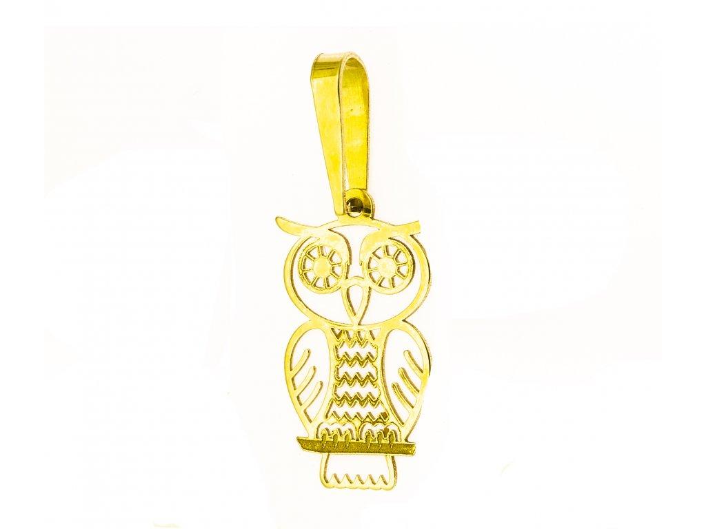 Přívěšek ze žlutého zlata H908
