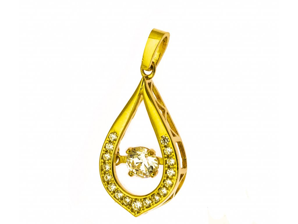 Přívěšek ze žlutého zlata H857