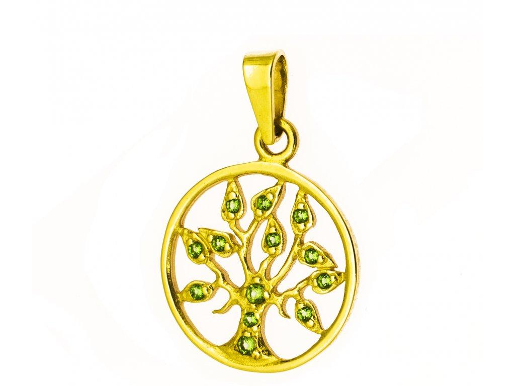 Přívěšek ze žlutého zlata H971
