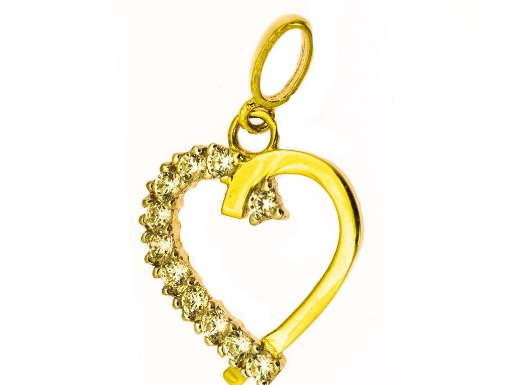 Přívěšek ze žlutého zlata H974