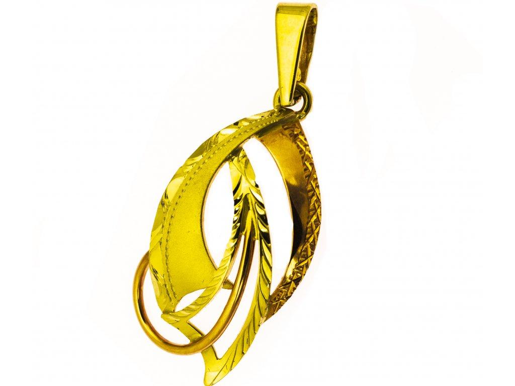 Přívěšek ze žlutého zlata H953
