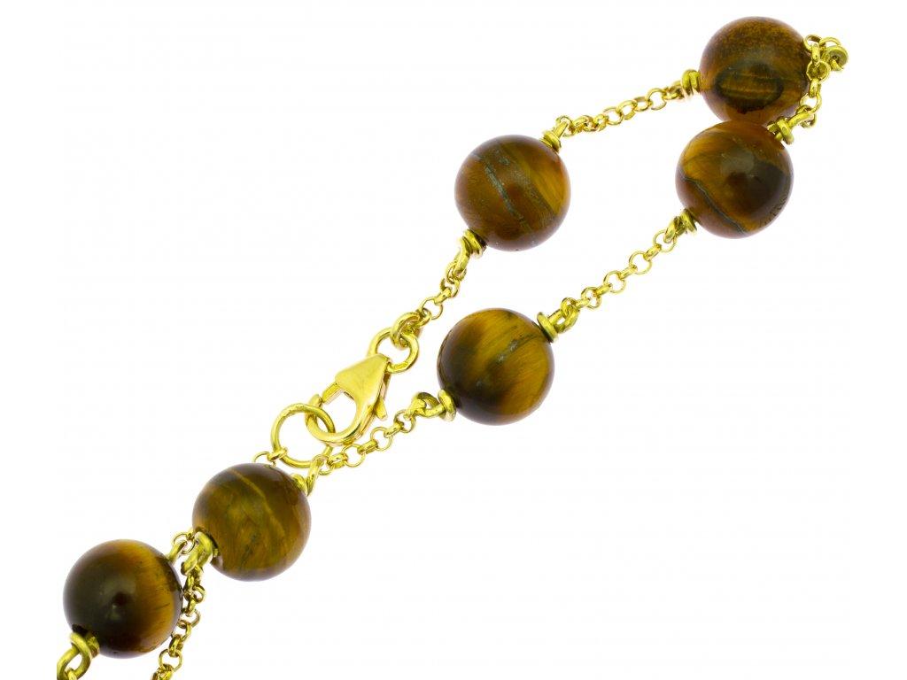 Náramek ze žlutého zlata D409