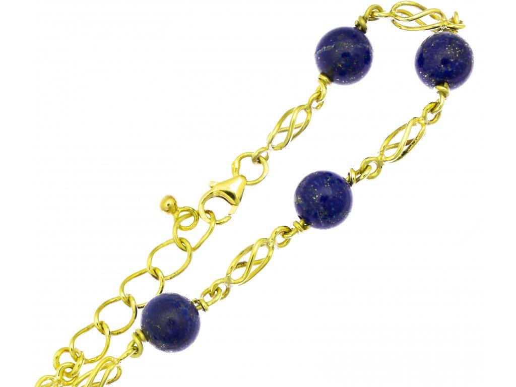 Náramek ze žlutého zlata D438