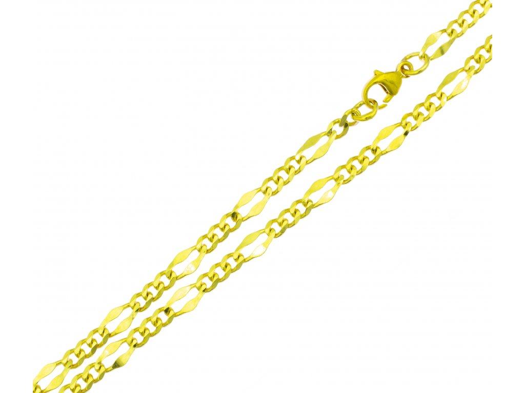 Náramek ze žlutého zlata D403