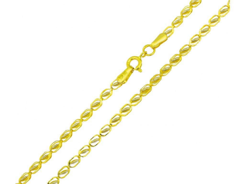 Náramek ze žlutého zlata D418
