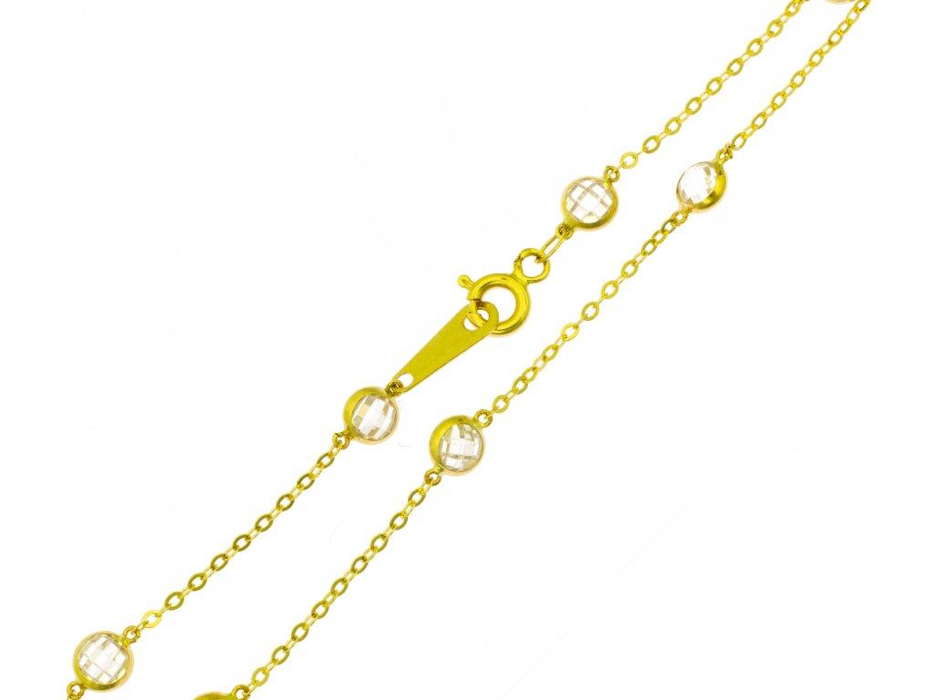 Náramek ze žlutého zlata D429