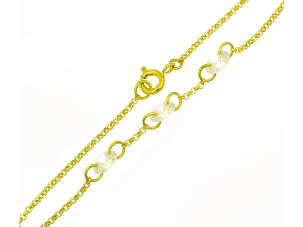 Náramek ze žlutého zlata D396