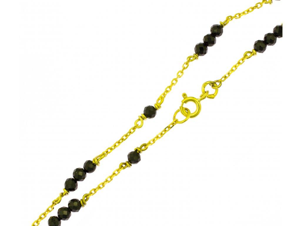Náramek ze žlutého zlata D435