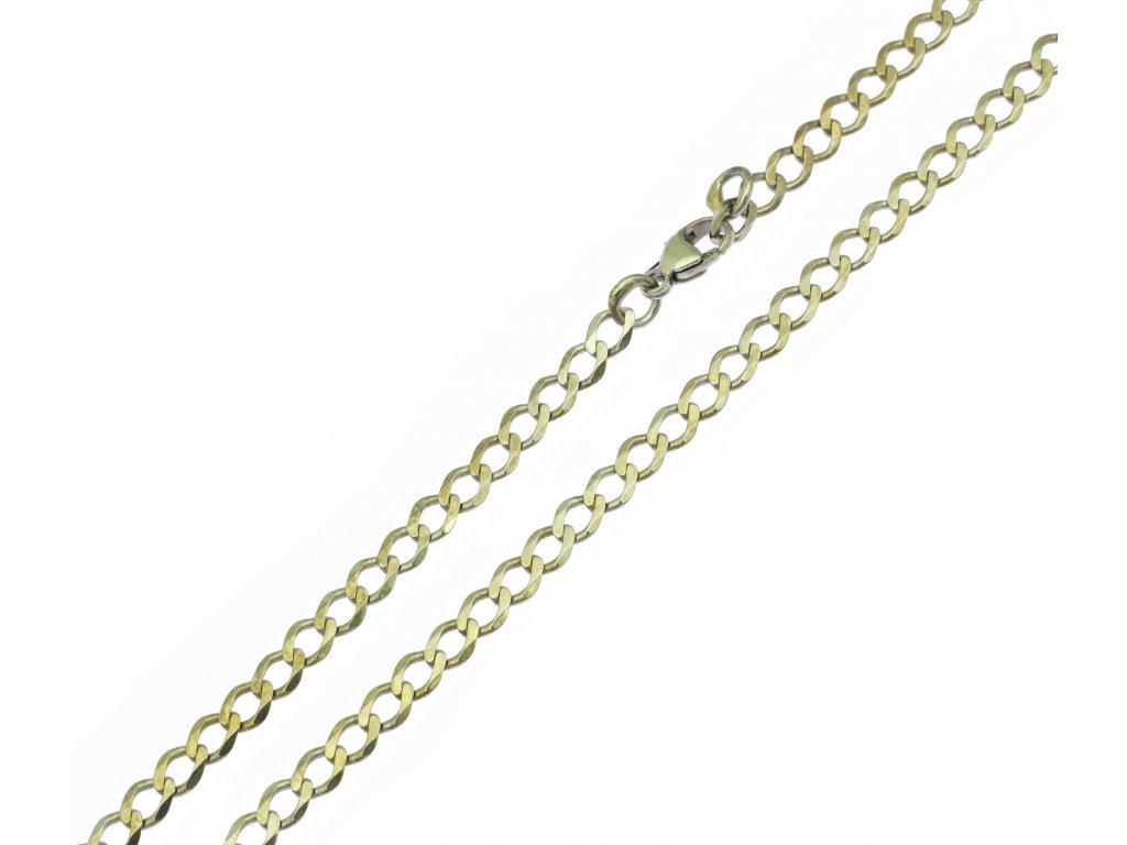 Zlaté bílé řetízky K082