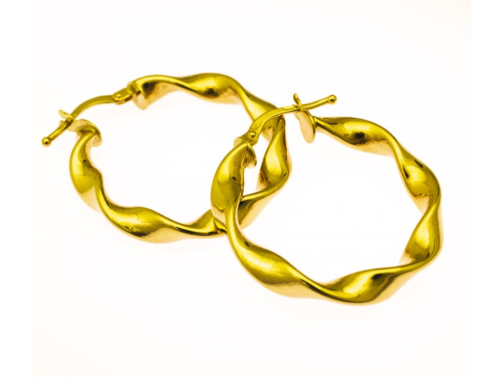Zlaté náušnice A301