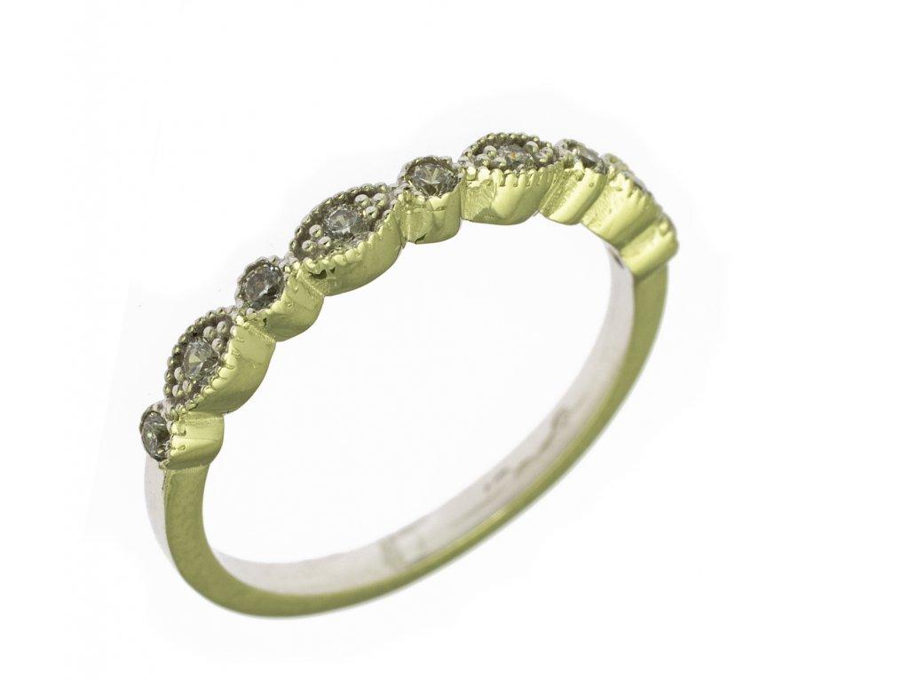 Prsten z bílého zlata G843