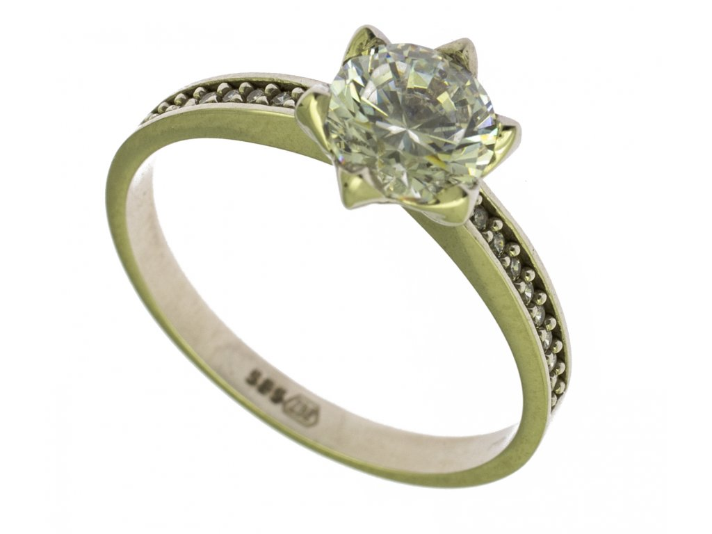 Prsten z bílého zlata G751