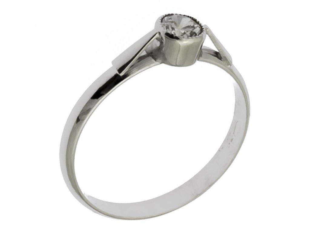 Prsten z bílého zlata G871