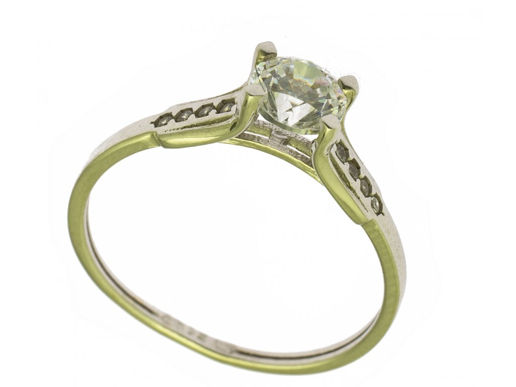Prsten z bílého zlata G672
