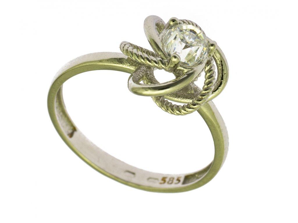 Prsten z bílého zlata G849