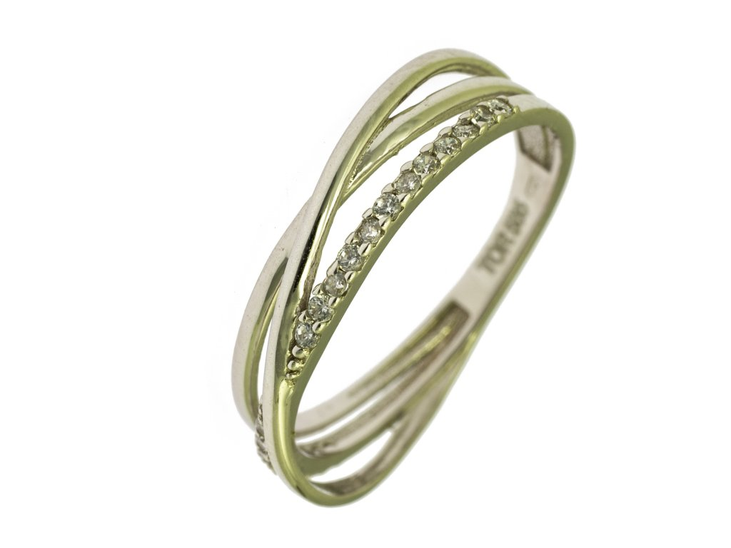 Prsten z bílého zlata G830