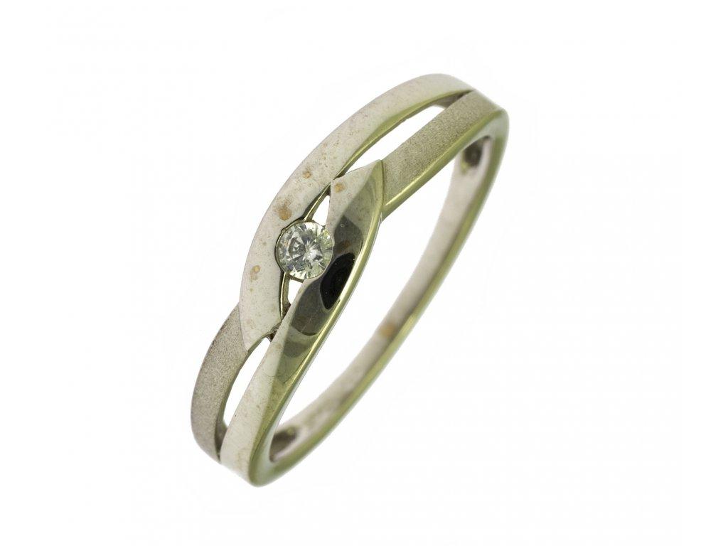 Prsten z bílého zlata G802