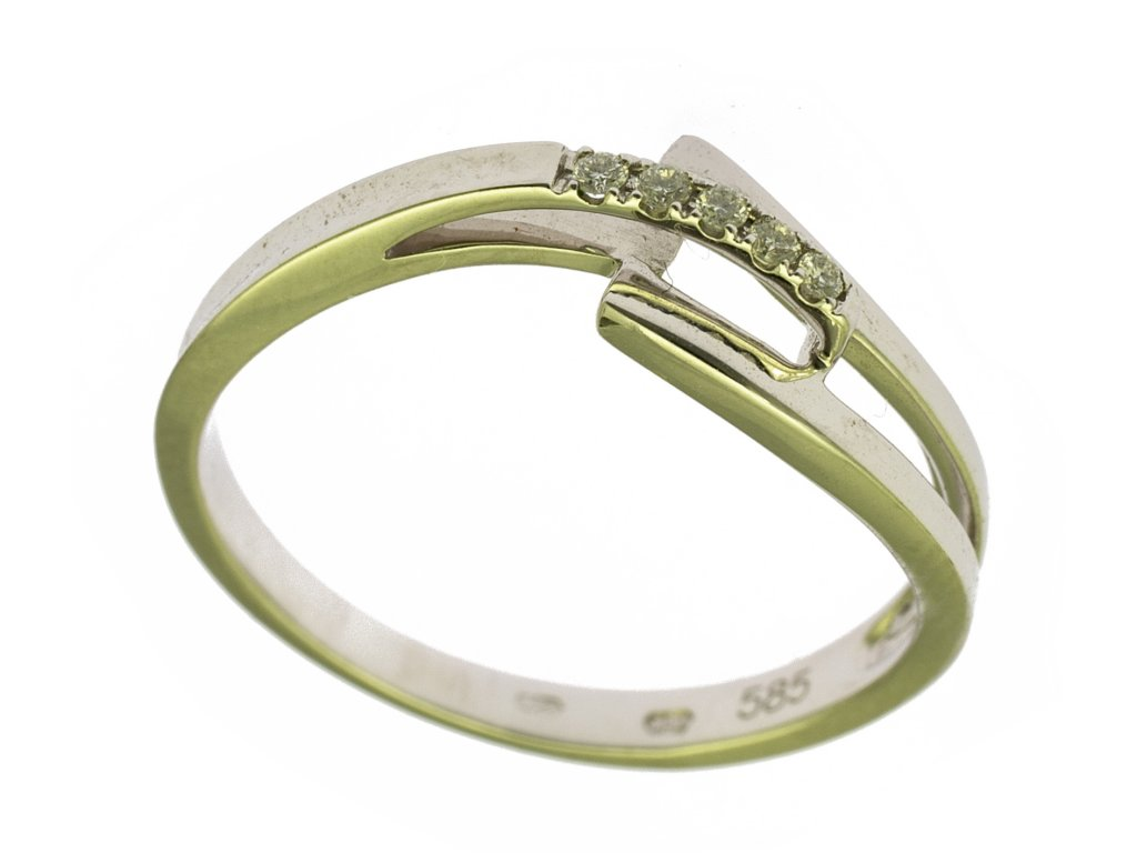 Prsten z bílého zlata G775