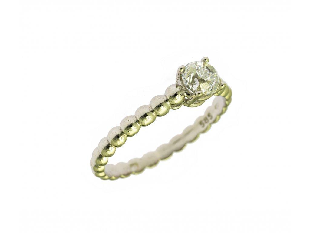 Prsten z bílého zlata G847