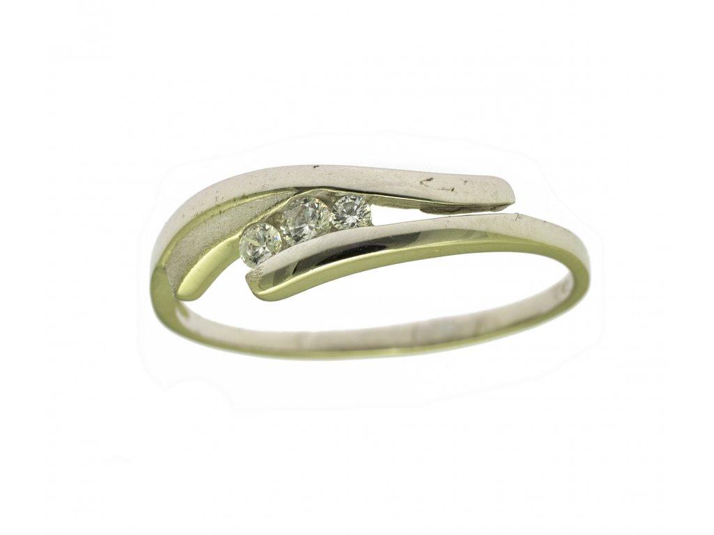 Prsten z bílého zlata G803