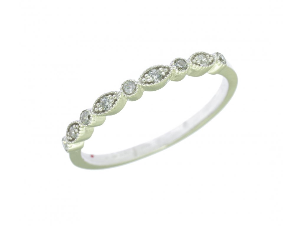 Prsten z bílého zlata G842