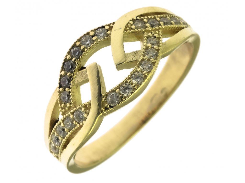 Zlatý prsten G786