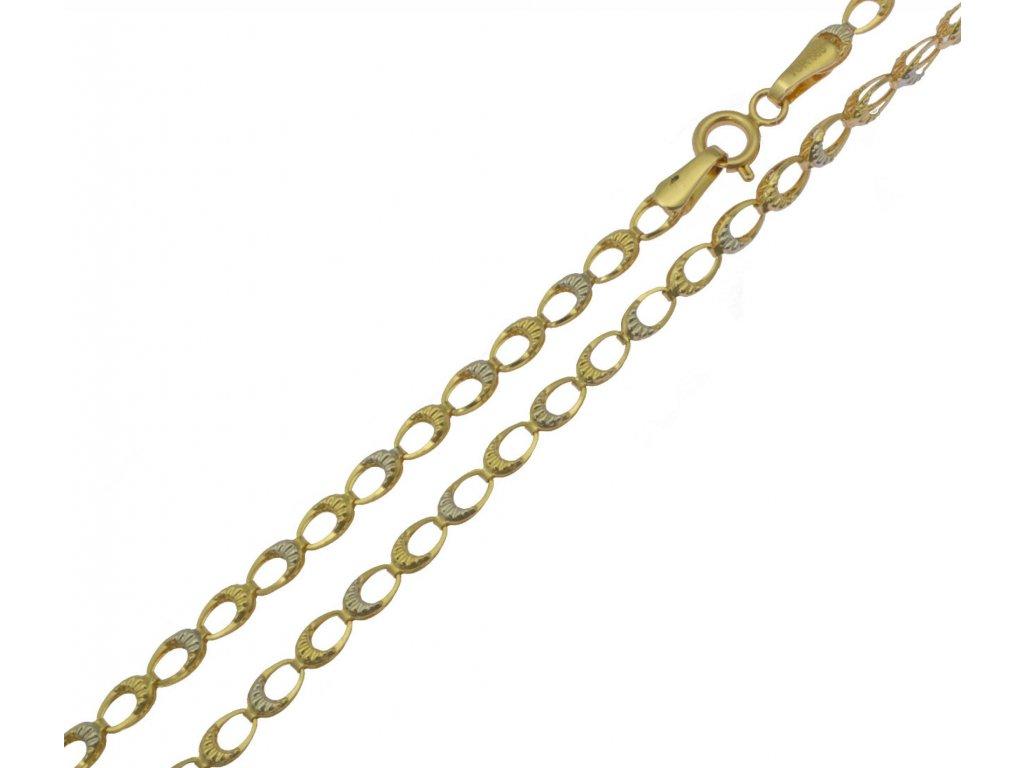 Ozdobný zlatý řetízek D924