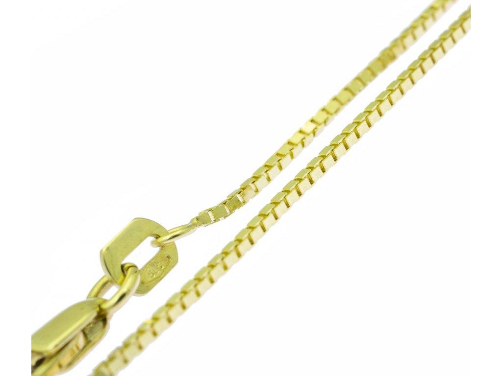 Řetízek ze žlutého zlata K128