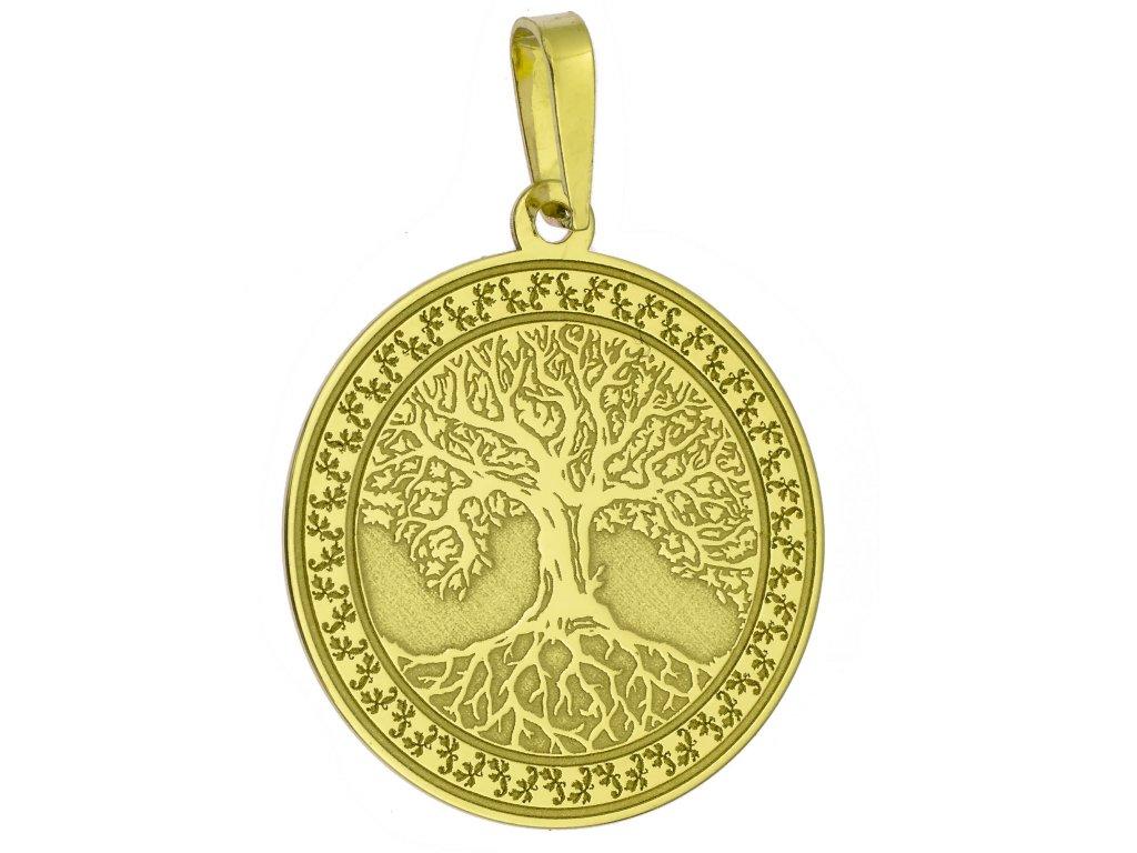 Přívěšek ze žlutého zlata H1002