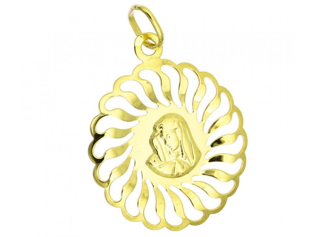 Přívěšek ze žlutého zlata H984