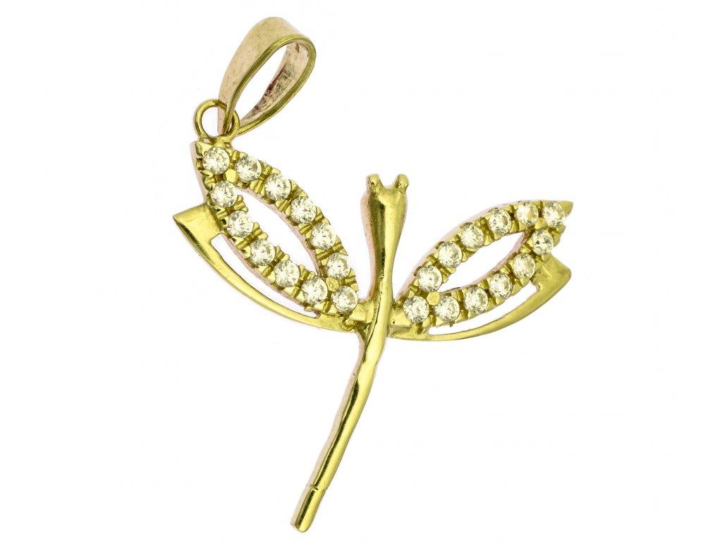 Přívěšek ze žlutého zlata H991