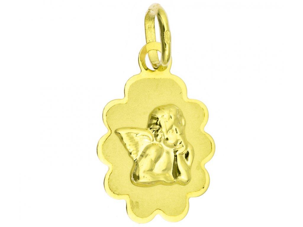 Přívěšek ze žlutého zlata H989