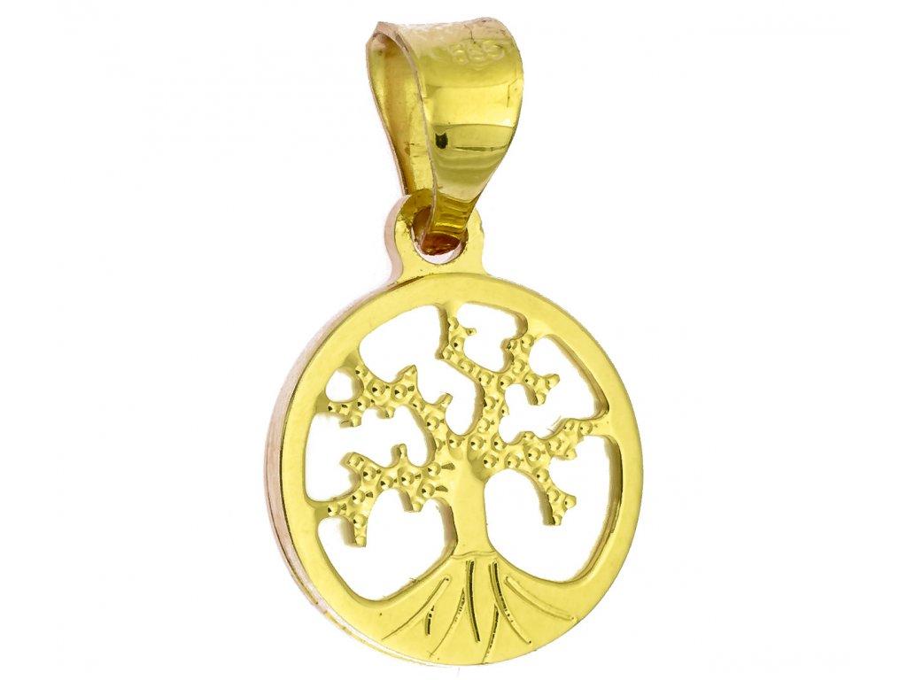 Přívěšek ze žlutého zlata H983