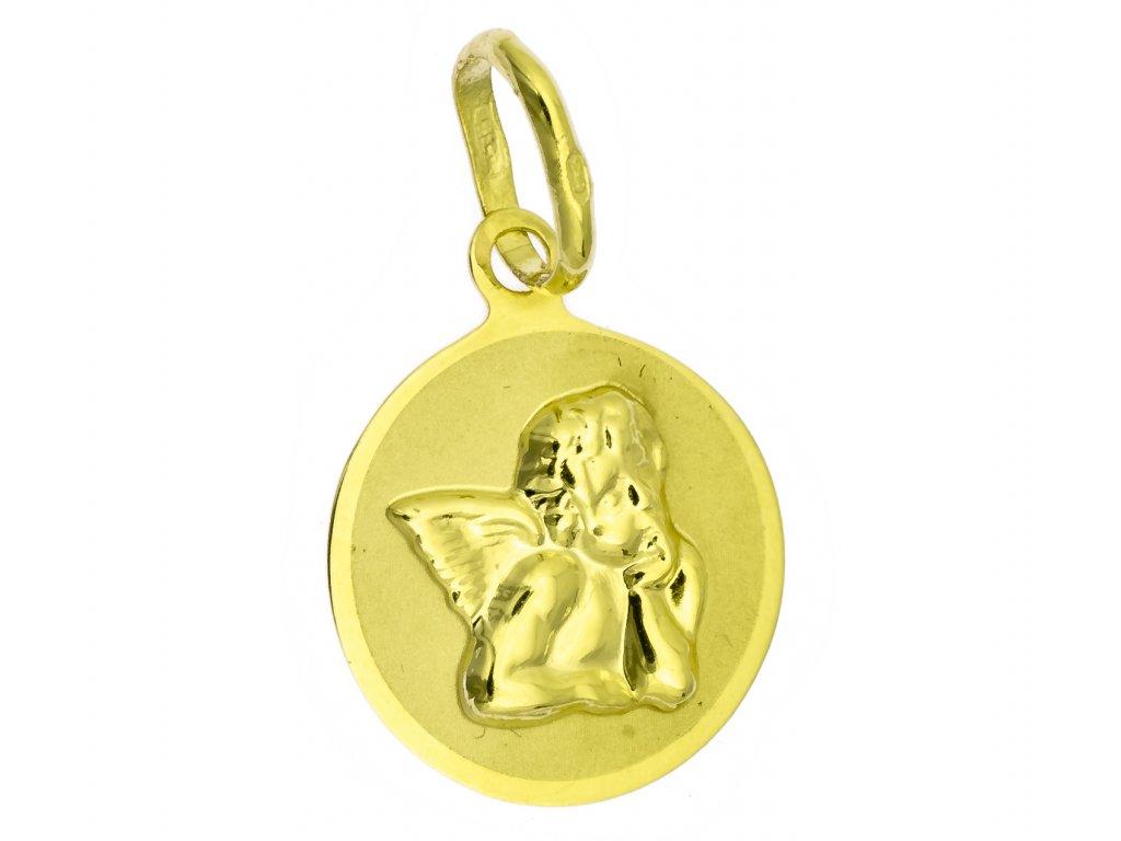 Přívěšek ze žlutého zlata H990