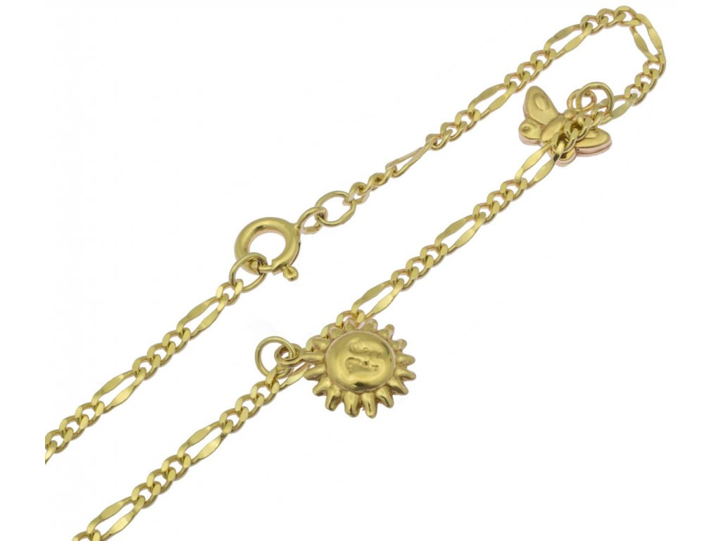 Zlatý náramek D385