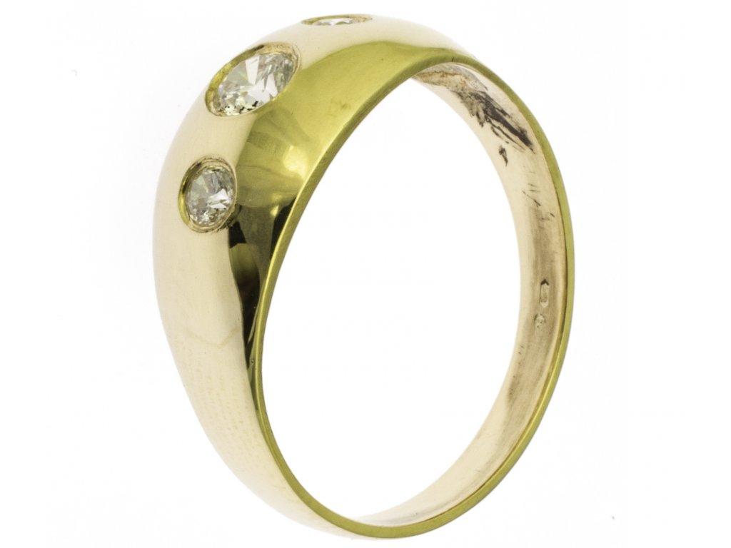 Zlatý prsten ze žlutého zlata G816