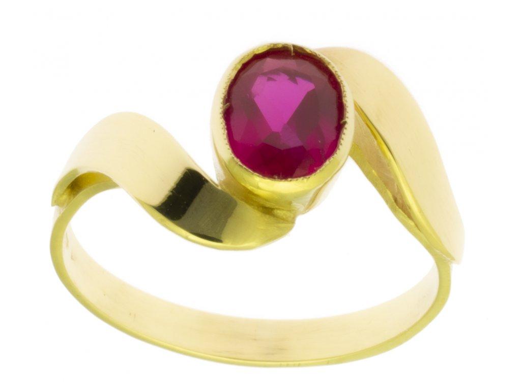 Zlatý prsten ze žlutého zlata G488