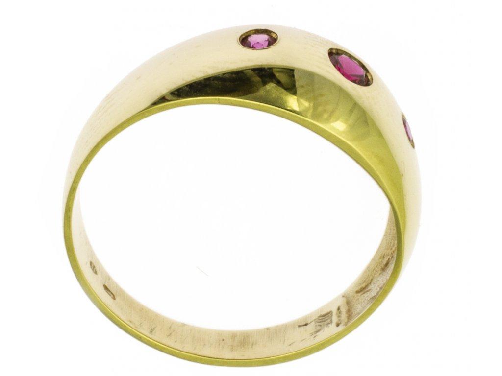 Zlatý prsten ze žlutého zlata G363