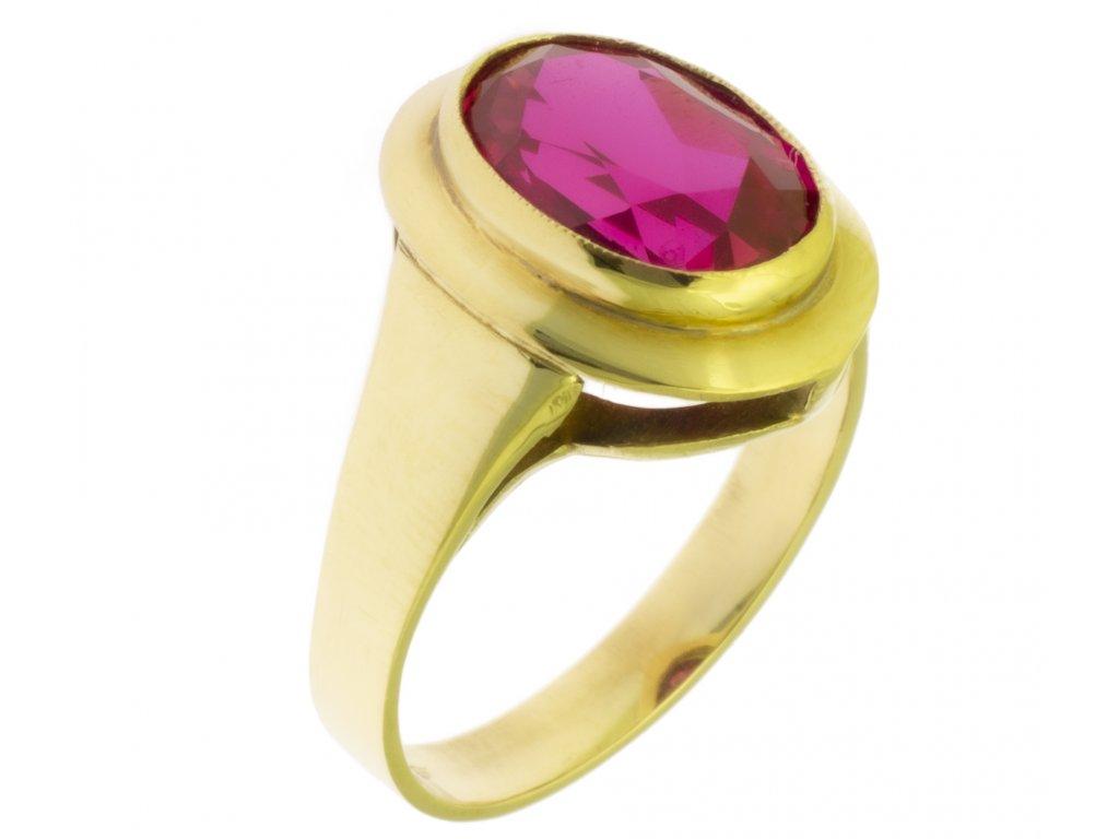 Zlatý prsten ze žlutého zlata G486